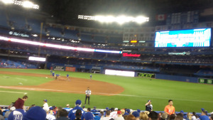 Two Jays tickets section 115 row 16 verse Athletics all games