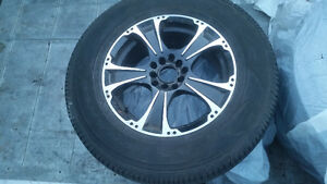 16 inch good year avalanche fuel max tires on aluminum rims
