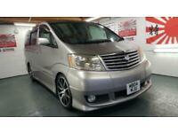 Toyota Alphard 2.4 4wd grey petrol automatic 8 seater japanese import grade 4