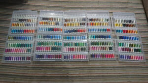 (5) Cases of Assorted Sulky Embroidery Thread