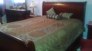 Queen size comforter chocolate brown  and light blue