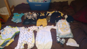 Huge lot of baby boy 0-3 month clothing