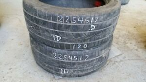 Pair of 2 Continental PureContact 225/45R17 tires (50% tread lif