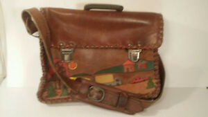 VINTAGE - leather bag - sac en cuir