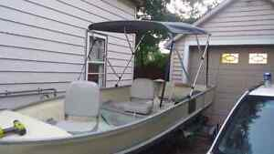 14ft aluminum with 9.5hp and trailer