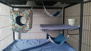 Rat, Ferret, Chinchilla, Sugar Glider, etc. Custom Hammocks!