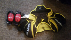 Hockey elbow pads and chest protector