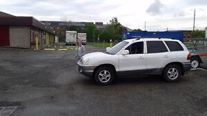 2004 Hyundai Santa Fe gray SUV, Crossover