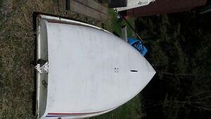 small sailboat similar to lazer dinghy