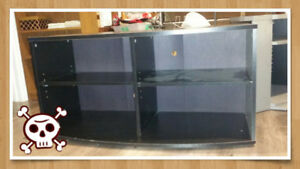 Tv Stand - Black - Flat Screen, LED, CRT, curved,  fits all tvs