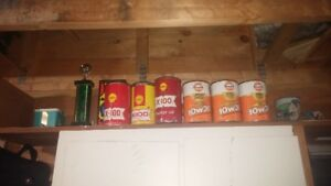 6 GULF QUARTS OF OIL FULL CANS