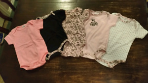 Adorable Set of Girls 6-9 month Onesies