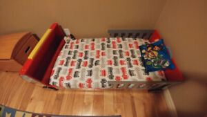 Fire truck toddler bed with mattress