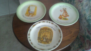 3 Holly Hobbie Plates