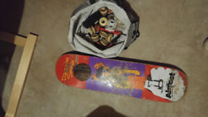 Skateboard deck and extras