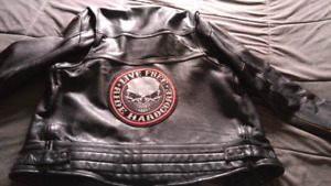 Mens XL leather motorcycle jacket