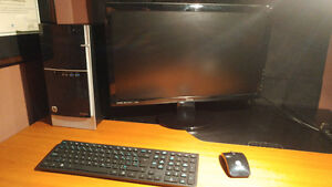 "Powerful and Gently Used HP Pavilion Desktop with 24"" Monitor"