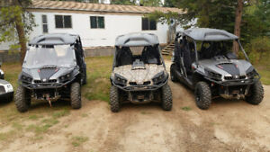 PRICED TO SELL NOW!!! 3-2015 CAN AM COMMANDER MAX XT 1000.