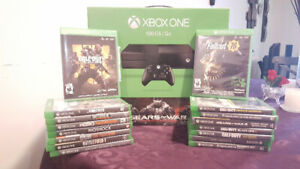 Xbox one with 16 plus games