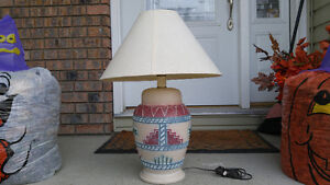 * Reduced *  Aztec pattern table lamp.
