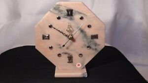 Pink Marble Octagon Clock