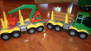 Kids WADER Toy Truck LOGGING Trailer Made in Germany