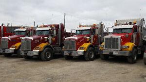 2012 Kenworth and Peterbilt tri axle dump trucks for sale