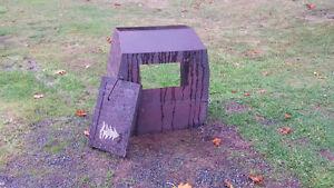Solid steel wood stove