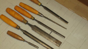 Chisels - six old chisels for sale