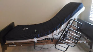New in box hospital bed+All Accessories ,Free Over Bed Table New