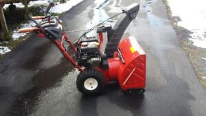 Troy Built snowblower power steering 4 yrs old low hrs
