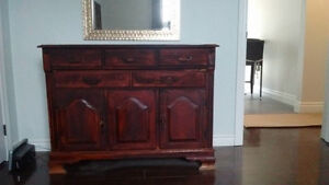Solid wood dresser/wardrobe that has been re-stained darker.