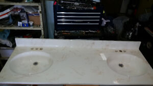 """60"""" Double sink counter top"""