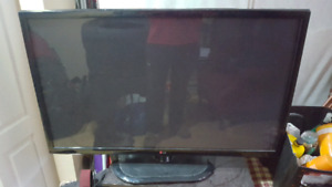 Flat screen computer monitor.
