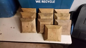"""Lot of Ten 5 1/2"""" x 5 1/2"""" Pressure Treated Fence Post Caps"""