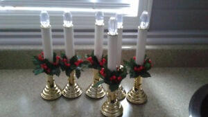 12 New Flameless 9 inch Tapered Candles