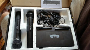 CAD Audio VHF Wireless Dual Handheld Microphone System