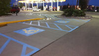 Parking Lot Maintenance - Power Sweeping, and Line Painting