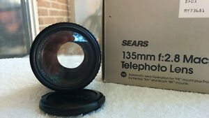 Sears 135mm F2.8 with 52mm Clear Filter