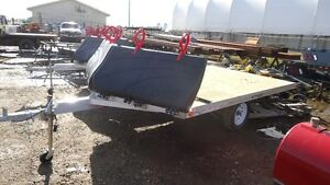 2016 Rainbow 2 place Sled Trailer with Front Salt Shield