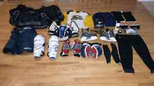 Full set of hockey gear