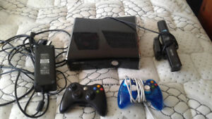 Xbox 360, 2 controllers and connect for $65