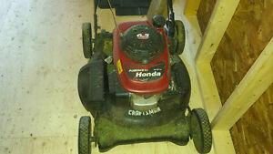 Honda powered lawnmower