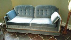 divan/canapé/sofa lit et chaise de style vintage