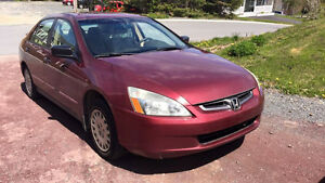2005 Honda Accord Sedan Manual Transmission St. John's Newfoundland image 3