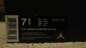 AIR JORDAN 12 CNY GS SIZE 7.5Y