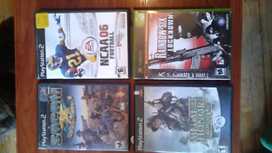 3 jeux Play station 2 et 1 jeux Xbox à vendre