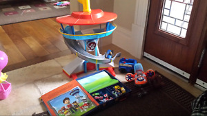 Paw patrol tower  and booklet