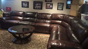 Beautiful Leather reclining sectional