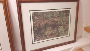 Decorative wolf paintings